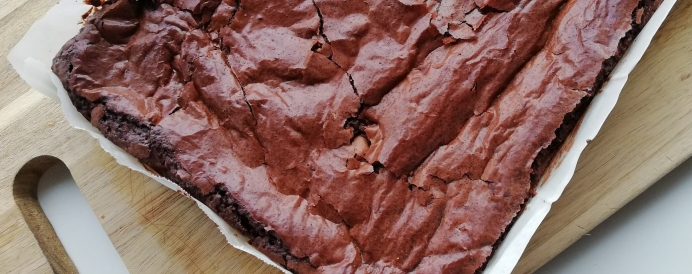 White Chocolate Fudge Brownie